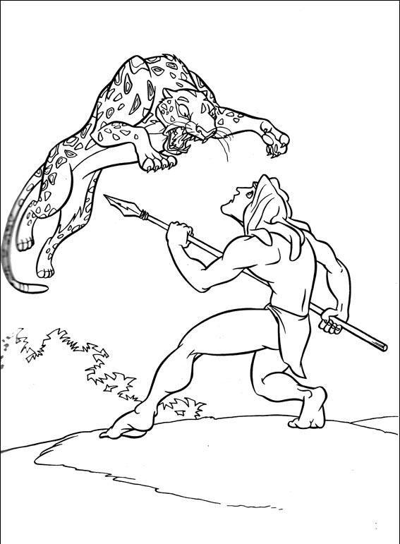 Kleine Tarzan Kleurplaat Desenho Para Colorir Tarzan 360 Crian 231 As Clickgr 225 Tis