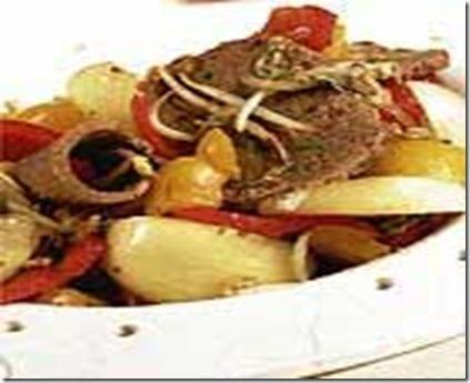 Receita Salteado de Carne com Legumes