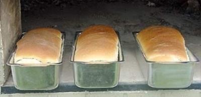 Receita de Pão Assado no Forno à Lenha