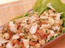 Receita Salada de Bacalhau com Grão-de-bico
