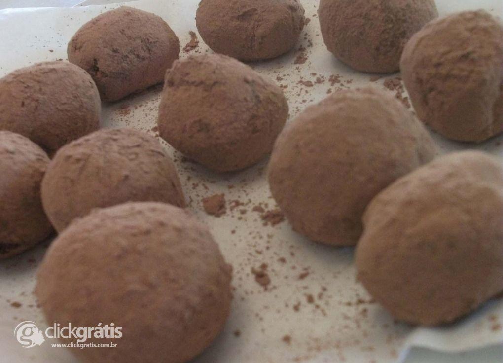 Passo 11 - Trufas de Chocolate ao Leite