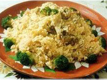 Receita Arroz com Brócolis e Batatas