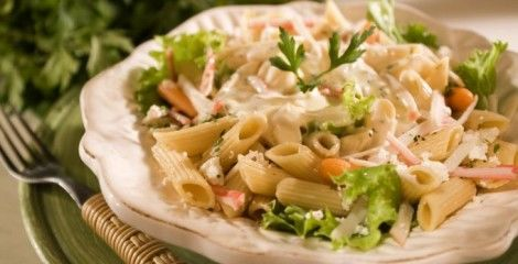 Receita Salada de Pena ao Molho de Laranja