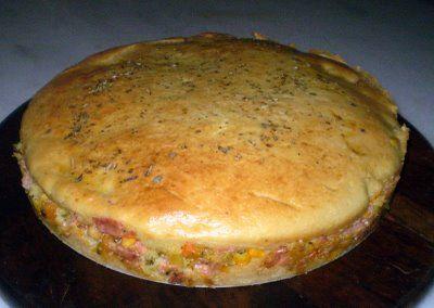 Receita Torta de Arroz com Requeijão