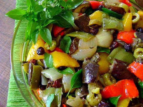 Receita Salada Especial de Berinjela