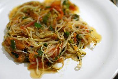 Receita Salada de Broto de Feijão