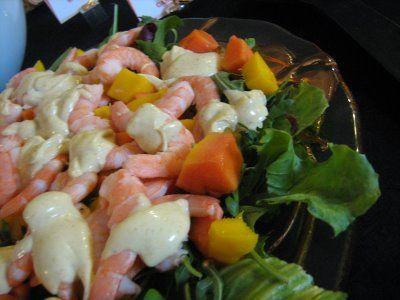 Receita Salada Tropical de Camarão