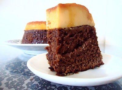Receita Bolo Pudim de Chocolate e Laranja