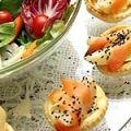 Receita Salada com Folhados de Pêra