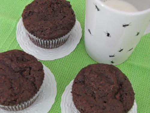 Receita Muffin de Chocolate com Recheio de Nutella