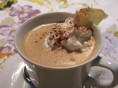 Receita Café Gelado com Sorvete de Abacaxi