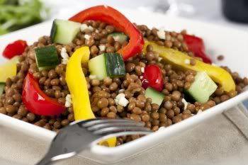 Receita Salada de Lentilhas