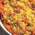 Arroz com Açafrão e Damasco
