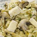 Receita Arroz Cremoso com Cogumelo e Queijo Brie