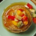 Receita Panquecas Americanas com Frutas e Mel