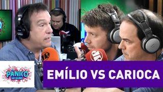 Emílio Surita e Carioca discutem política