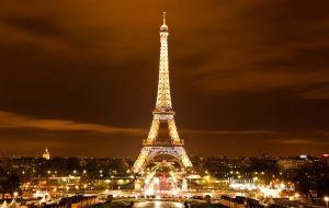 Torre Eiffel à noite, de Paris