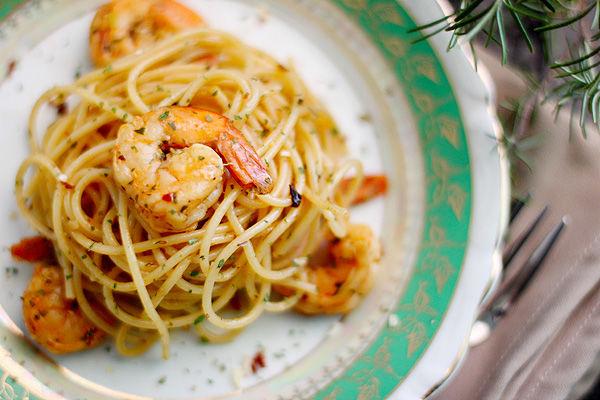 Espaguete com Camarão, uma boa pedida para o dia das mães