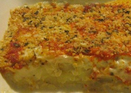 Torta de batatas com requeijão vegano