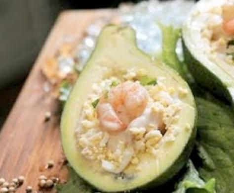 Receitas com Abacate - Abacate recheado