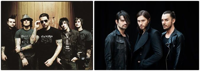 Avenged Sevenfold e Thirty Seconds To Mars farão shows no Brasil em 2014