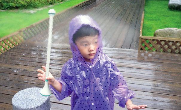 Novo guarda-chuva à base de ar é desenvolvido por empresa chinesa