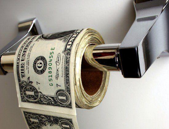 Dinheiro para se limpar