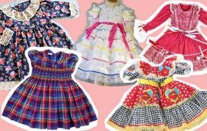 Dicas de vestidos fofos para colocar a criança no clima das Festas Juninas