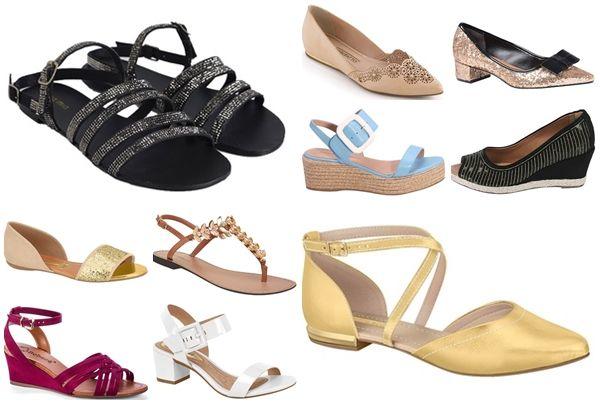 Sapatos elegantes para casamentos em praias ou sítios