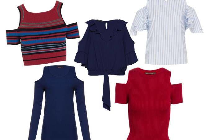 Opções de blusas com decote no ombro para o verão