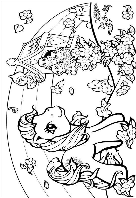 Desenho para colorir my little pony 254 crian as clickgr tis for Cute girly coloring pages
