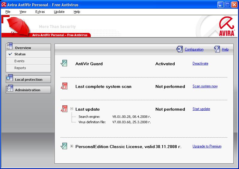 Download Avira AntiVir Personal - Free Antivírus 9 ...