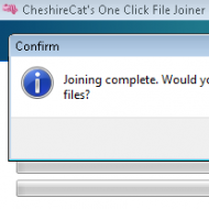 Baixar CheshireCats One Click File Joiner
