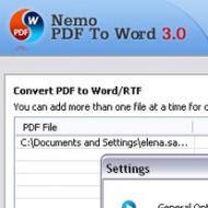 Baixar Nemo PDF to Word