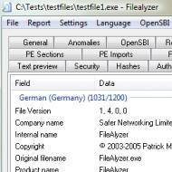 Baixar FileAlyzer