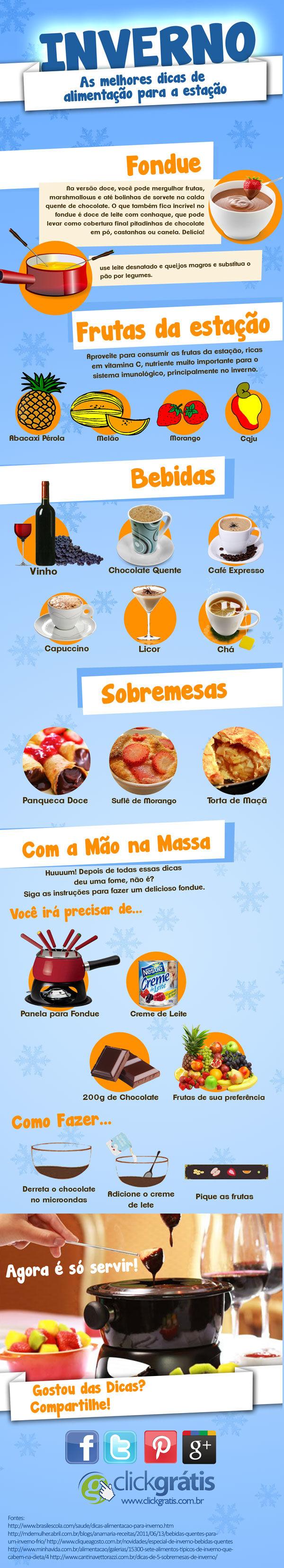 Tipos de comidas no inverno
