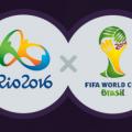 Jogos Olímpicos Rio-2016 x Copa do Mundo da Fifa 2014 em numeros