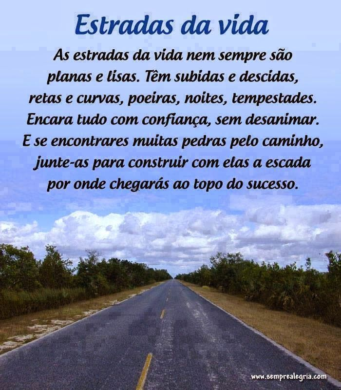 Estradas Da Vida Mensagem De Positivas Clickgrátis