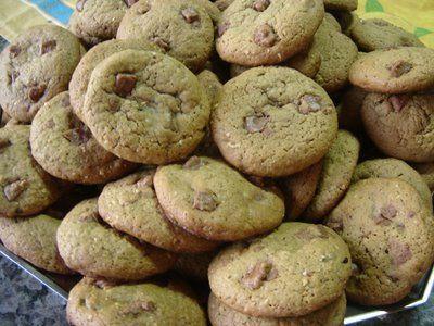 Receita Cookies com Gotas de Chocolate