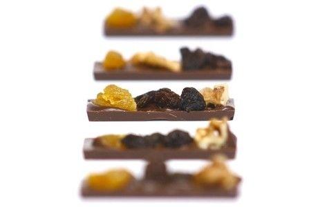 Receita Barrinha de Chocolate com Frutas Secas