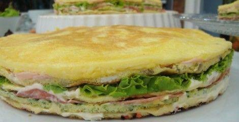 Receita Sanduíche de Omelete