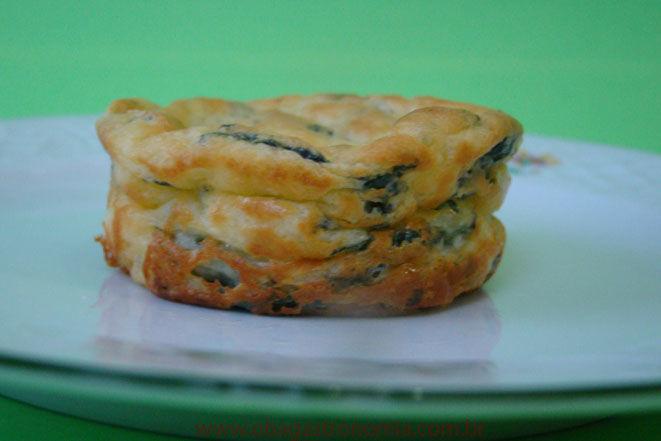 Receita Suflê de Espinafre e Cream Cheese!