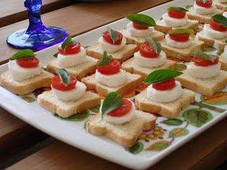 Canap s de mussarela receita de entradas e aperitivos for Canapes simples e barato