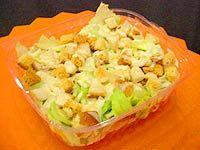 Receita Salada Americana com Croutons