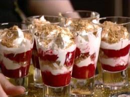 Receita Sobremesa de Iogurte, Bolacha e Frutos Vermelhos