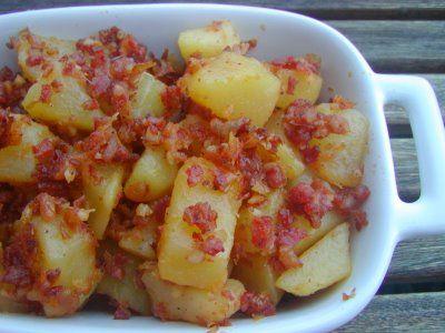 Receita Batatas com Chouriço
