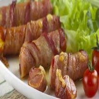 Receita Enroladinho de Salsicha, Queijo e Bacon