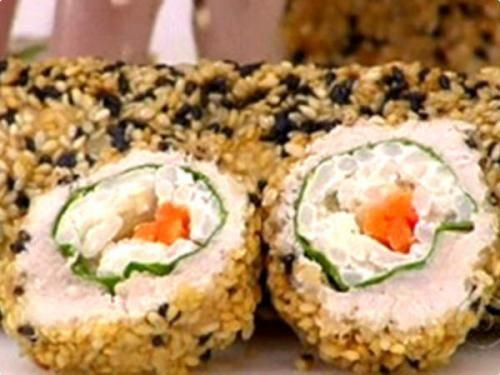Receita Sushi de Frango à Moda Brasileira