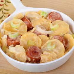 Receita Batata Assada com Linguiça Deliciosa