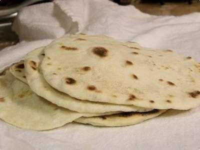 Receita Tortillas de Farinha de Trigo
